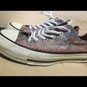 Women's sparkle rainbow converse